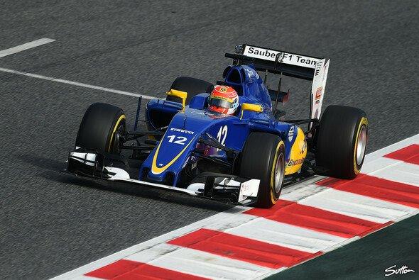 Felipe Nasr führte den Sauber C34 ein letztes Mal aus - Foto: Sutton