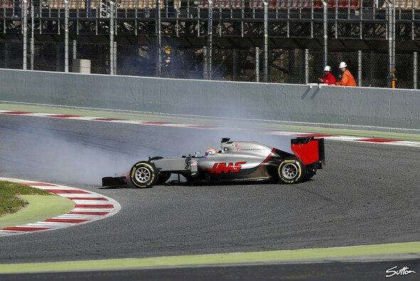 Haas geriet in seiner zweiten Testwoche mehrmals aus der Spur - Foto: Sutton