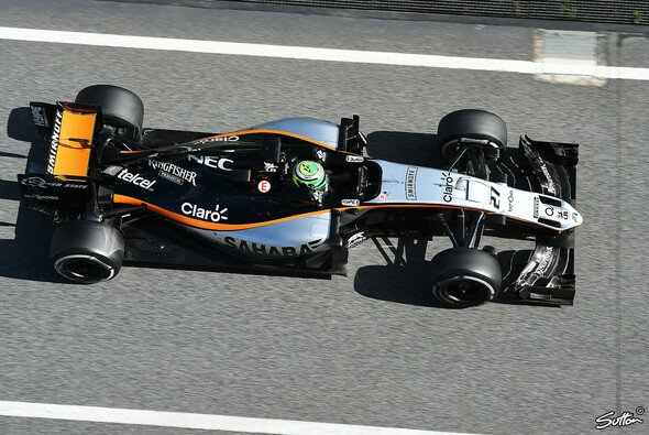 Nico Hülkenberg (hier im Bild) und Sergio Perez haben 2016 für Force India Großes vor. - Foto: Sutton