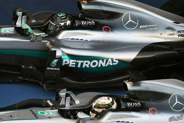 Das Duell Hamilton vs. Rosberg geht in Austin in die nächste Runde - Foto: Sutton