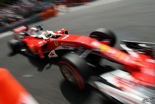Bestzeit für Sebastian Vettel im Ferrari in Monaco - Foto: Sutton