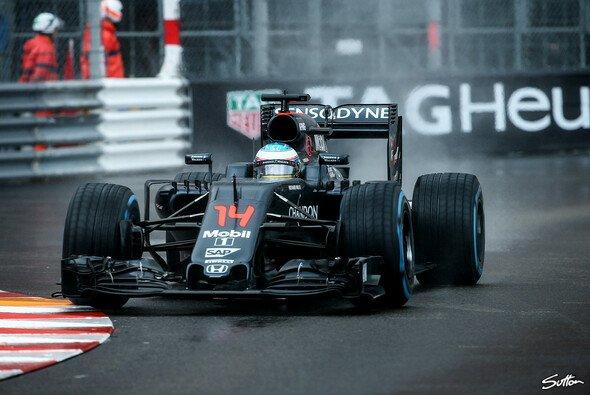 Bei schwierigen Bedingungen zeigte Alonso im vergangenen Jahr eine starke Leistung - Foto: Sutton