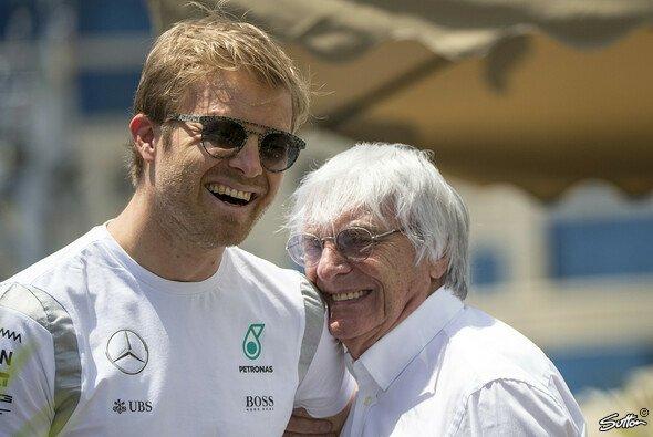 Nico Rosberg und Bernie Ecclestone waren nicht immer die besten Freunde - Foto: Sutton