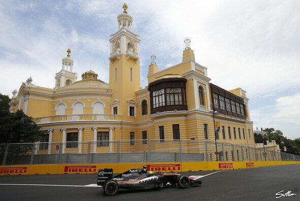 Sergio Perez fuhr in FP2 die drittschnellste Zeit - Foto: Sutton