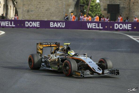 Sergio Perez konnte in Baku trotz Strafversetzung aufs Podium fahren - Foto: Sutton