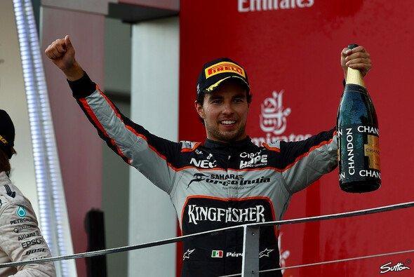 Sergio Perez reitet auf der Erfolgswelle - Foto: Sutton