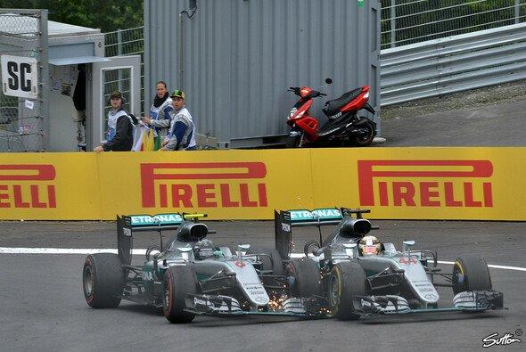 Das enge WM-Duell von Nico Rosberg und Lewis Hamilton geht in die heiße Phase - Foto: Sutton