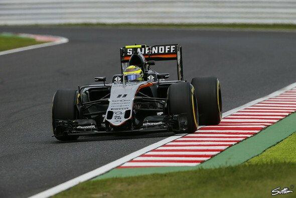 Sergio Perez starte am Sonntag von Rang sechs aus in den Japan GP - Foto: Sutton