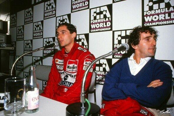 Ayrton Senna und Alain Prost würdigten sich auf dem Gipfel ihrer Rivalität keines Blickes mehr - Foto: Sutton