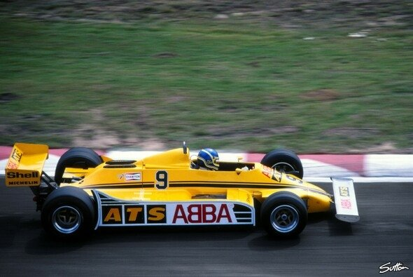 Slim Borgudd, Studio-Drummer der Band ABBA, stimmte 1981 ganz neue Töne in der Formel 1 an - Foto: Sutton