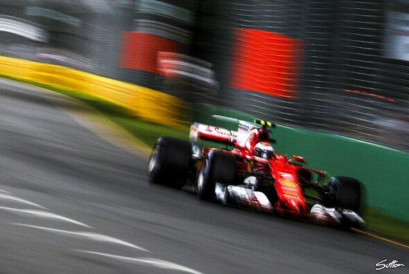 Kimi Räikkönen war mit Platz vier beim Qualifying für den Australien-GP nicht zufrieden - Foto: Sutton