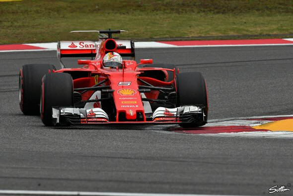 Ferraris Sebastian Vettel geht als Zweiter in den China GP in Shanghai - Foto: Sutton