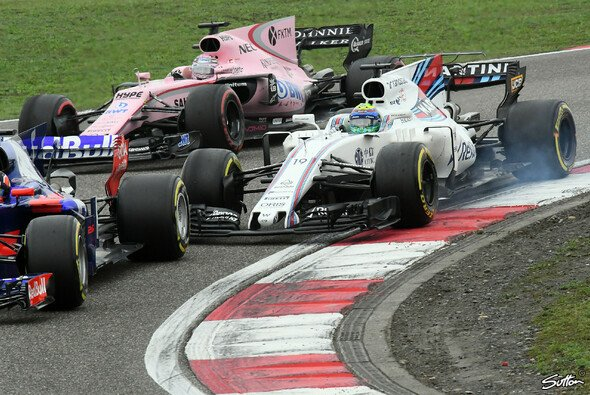 Zwischen Force India, Williams &. Co geht es eng zu - Foto: Sutton