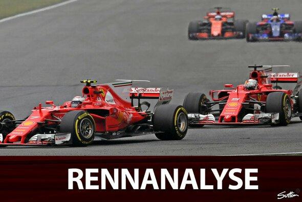Verlor Sebastian Vettel hinter Kimi Räikkönen das Rennen? - Foto: Sutton