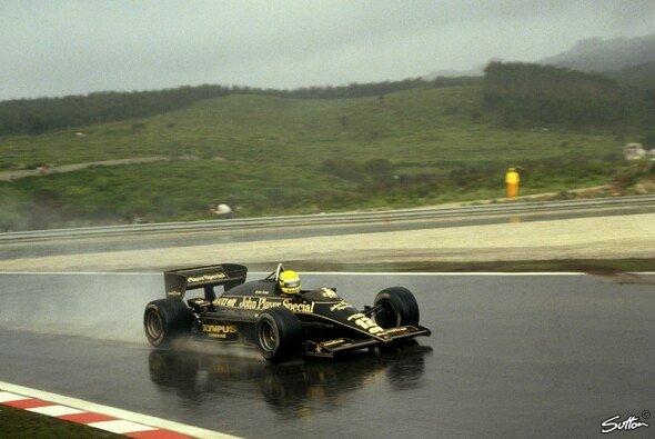 Senna holte seine erste Pole Position 1985 in Portugal - Foto: Sutton