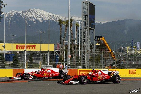 Ferrari drückt dem Wochenende in Russland seinen Stempel auf - Foto: Sutton