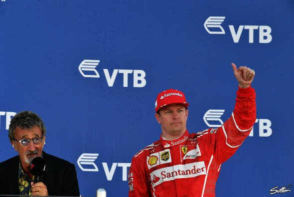 Kimi Räikkönen kehrt in Russland zurück auf das Treppchen, ist aber unzufrieden mit der Stufe - Foto: Sutton