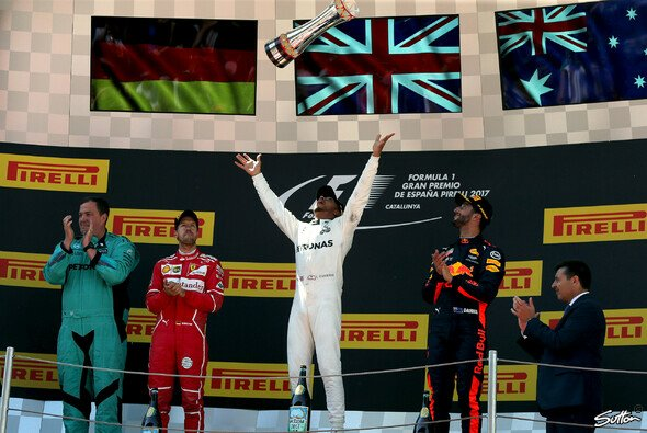 Die Top-3 beim Spanien GP - Foto: Sutton