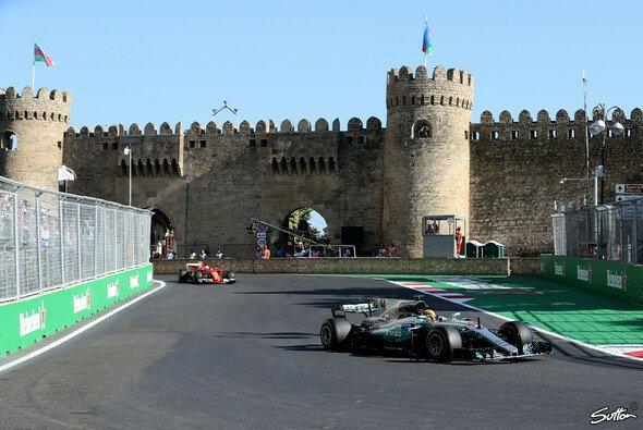 Die Formel-1-Strecke in Baku, ein ganz besonderer Stadtkurs - Foto: Sutton