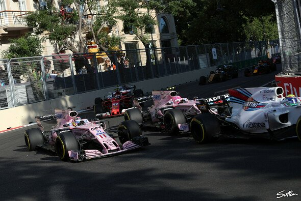 In Baku eskalierte das Teamduell bei Force India - Foto: Sutton