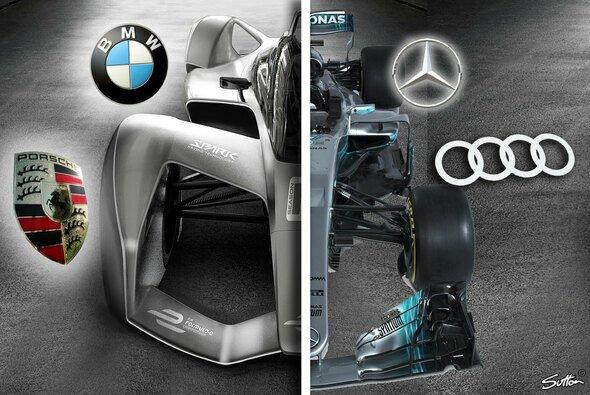 Mercedes, Porsche, Audi und BMW steigen in die Formel E ein - warum? - Foto: Formel E/Mercedes/Sutton