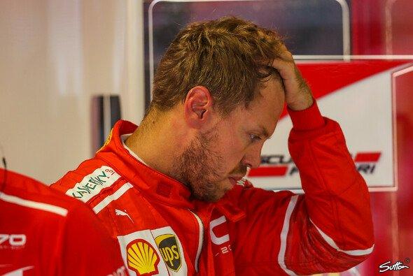 Sebastian Vettel war nach dem Mexiko GP untröstlich - Foto: Sutton