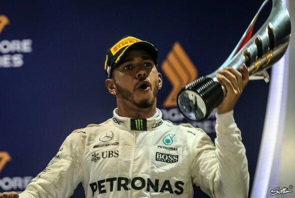 Lewis Hamilton (Mercedes) war 'geschockt', in Singapur gewonnen zu haben - Foto: Sutton