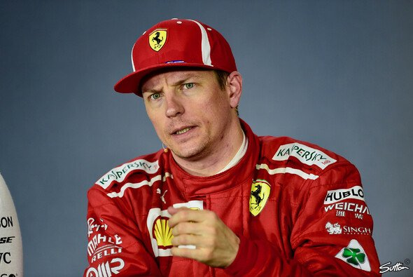 Kimi Räikkönen war trotz P2 nicht ganz zufrieden: 7 Zehntel Rückstand auf Mercedes sei Dank - Foto: Sutton