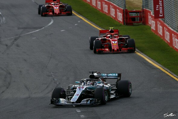 Lewis Hamilton verlor den Australien-Sieg aufgrund eines Strategiefehlers von Mercedese - Foto: Sutton