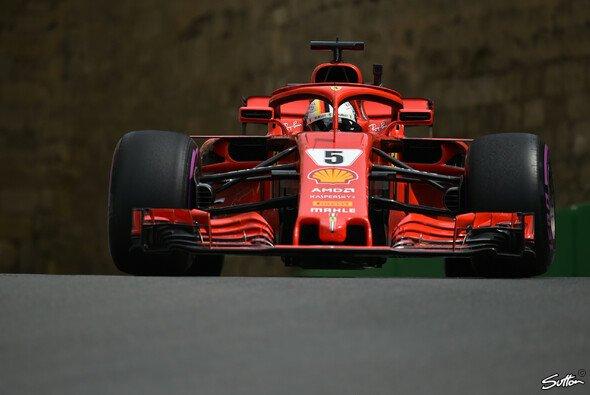 Sebastian Vettel und Ferrari hatten im 1. Training zum Aserbaidschan GP zu kämpfen - Foto: Sutton