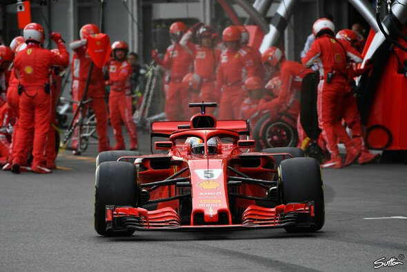 Sebastian Vettel verlor den Baku-Sieg nicht wegen seines Verbremsers oder dem Safety Car - Foto: Sutton