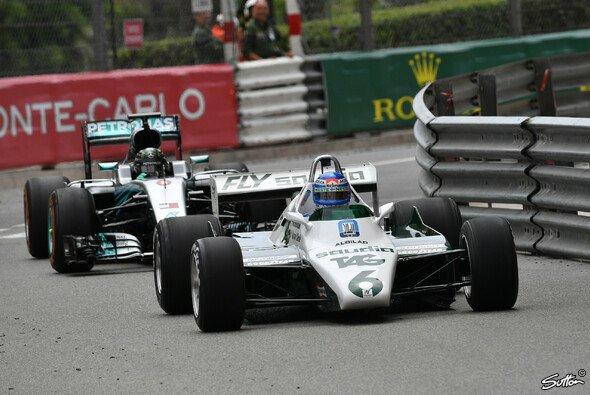 Nico Rosberg und Keke Rosberg fuhren in Monaco in ihren WM-Boliden - Foto: Sutton