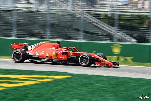Sebastian Vettel startet am Sonntag beim Formel 1 Grand Prix von Kanada 2018 von der Pole Position - Foto: Sutton
