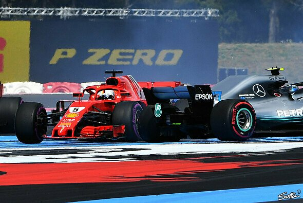 Anders als bei der Reifenwahl 2019, waren sich Ferrari und Mercedes am Start des Frankreich GP 2018 so gar nicht einig - Foto: Sutton