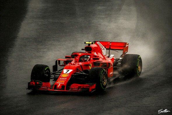 Kimi Räikkönen sieht Ferrari im Regen nicht im Nachteil - Foto: Sutton