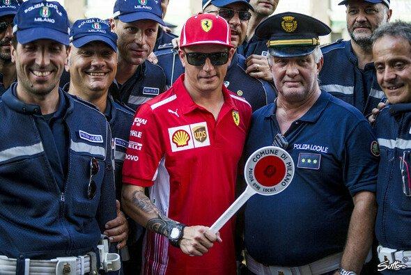 Erhält Wachtmeister Kimi Räikkönen 2019 einen neuen Ferrari-Vertrag? - Foto: Sutton