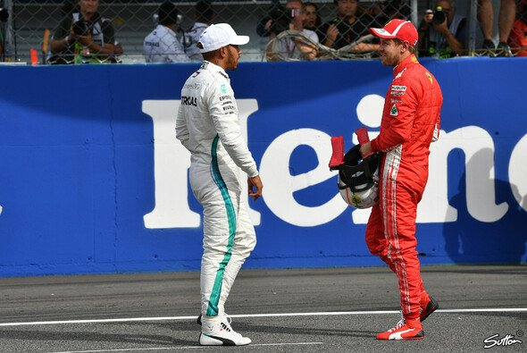 Wird auch der Italien GP 2018 in Monza zum Duell zwischen Sebastian Vettel und Lewis Hamilton? - Foto: Sutton