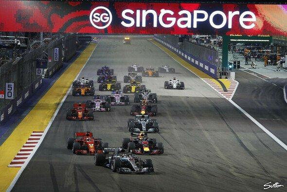 Die Formel 1 startet mit dem Nachtrennen in Singapur ins letzte Saisondrittel 2019 - Foto: Sutton