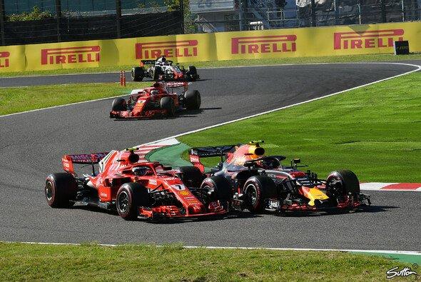 Max Verstappen fuhr Kimi Räikkönen ins Auto - Strafe - Foto: Sutton