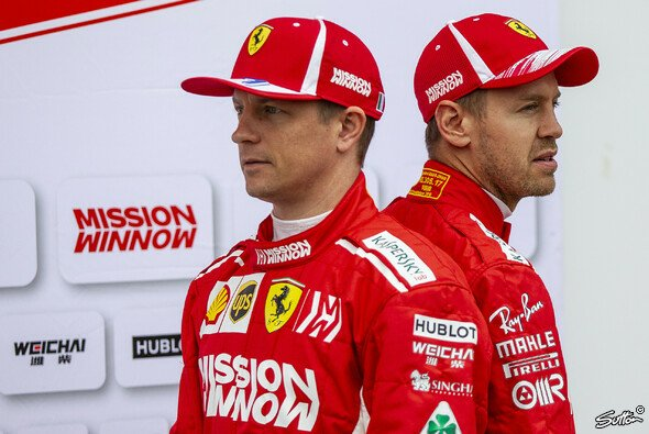 Kimi Räikkönen will mit Sebastian Vettel 2018 doch noch für einen Ferrari-Titel sorgen - Foto: Sutton