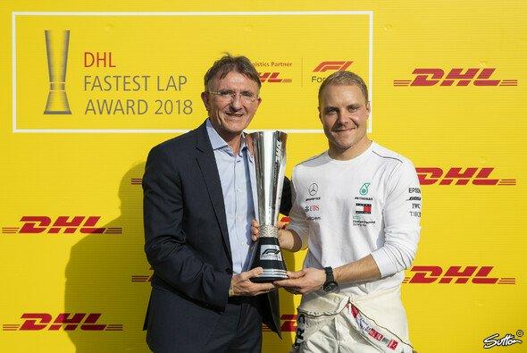 Valtteri Bottas wurde mit dem DHL Fastest Lap Award ausgzeichnet - Foto: Sutton