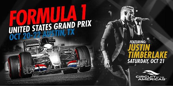 Justin Timberlake soll beim US Grand Prix für einigen Wirbel sorgen, Foto: COTA