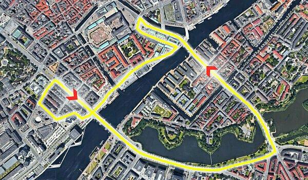 Der Dänemark GP in Kopenhagen soll direkt durch die Innenstadt führen, Foto: Google Maps/Motorsport-Magazin.com