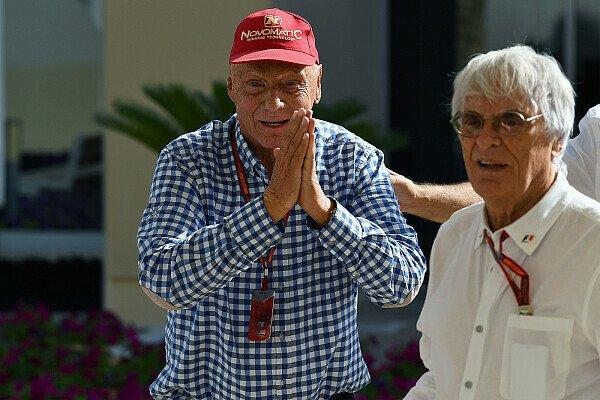 Niki Lauda ist besorgt, dass Bernie Ecclestones Nachfolger von Liberty Media der Formel 1 schaden könnten, Foto: Sutton