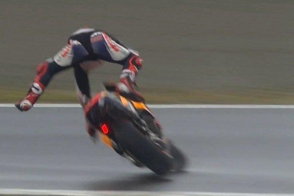Marc Marquez wurde von seiner Honda unsafnt abgeworfen, Foto: Screenshot/MotoGP