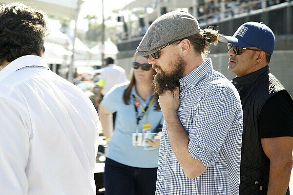 Leonardi DiCaprio besuchte die Formel E 2015 in Long Beach, Foto: LAT Images