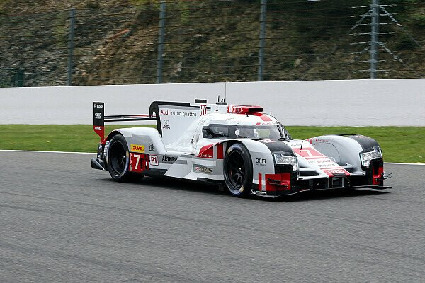 Audi in Spa in Startreihe zwei