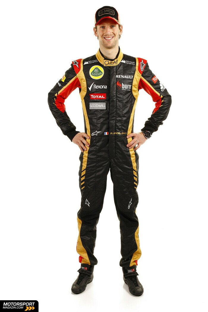 Formel 1 2013, Pr�sentationen, Romain Grosjean, Lotus, Bild: Lotus F1 Team