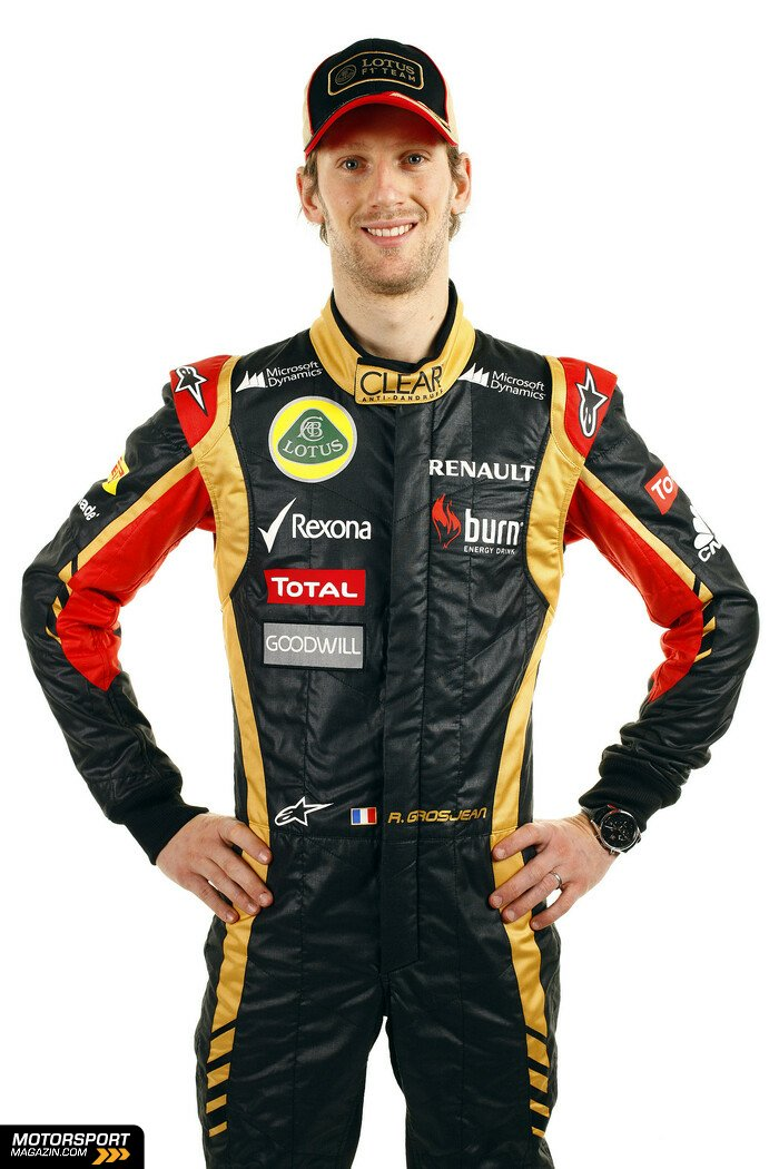 Formel 1 2013, Pr�sentationen, Romain Grosjean, Lotus F1 Team, Bild: Lotus F1 Team