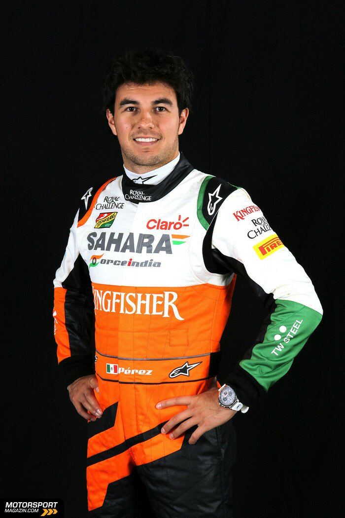 Formel 1 2014, Pr�sentationen, Sergio P�rez, Force India, Bild: Force India